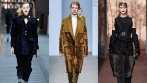Пальто из каракуля и каракульчи