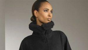 Вязаное пальто из толстой пряжи