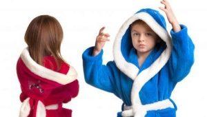 Детские банные халаты