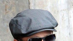 Кожаные мужские кепки