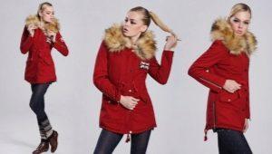 Красная зимняя парка - с чем носить?