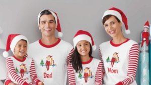 Одинаковые пижамы для всей семьи