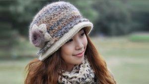 Женские зимние кепки