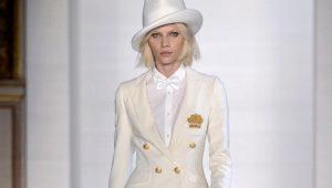 Женский белый костюм