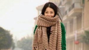 Как красиво завязать большой шарф?
