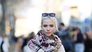 Как носить длинный шарф?