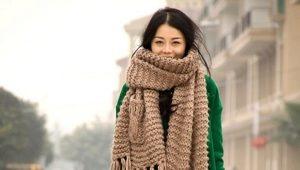 Как завязать длинный шарф?