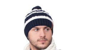Модные мужские комплекты из шапки и шарфа