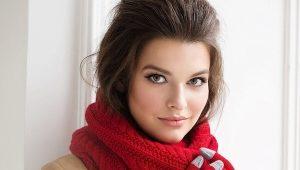 Стильный женский шарф-снуд