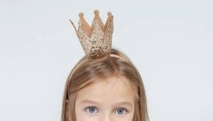 Ободок с короной для девочки-принцессы