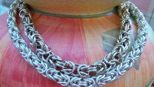 Византийское плетение цепочки