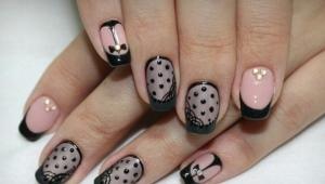 Вуаль на ногтях гель-лаком