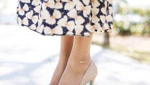 Браслет на ногу из золота