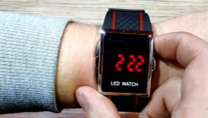 Наручные cветодиодные часы
