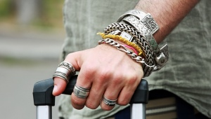 Серебряный мужской браслет