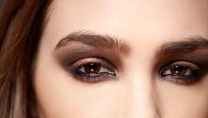 Коричневый «smoky eyes»