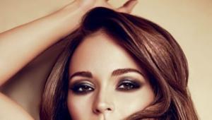 Макияж для карих глаз и темных волос