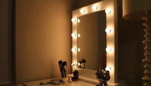 Зеркало для макияжа с подсветкой: как сделать самостоятельно