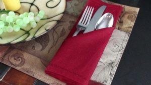 Как сложить салфетку для столовых приборов?
