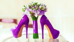 С чем носить фиолетовые туфли