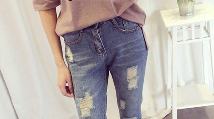 Как сделать модные дырки и потертости на джинсах