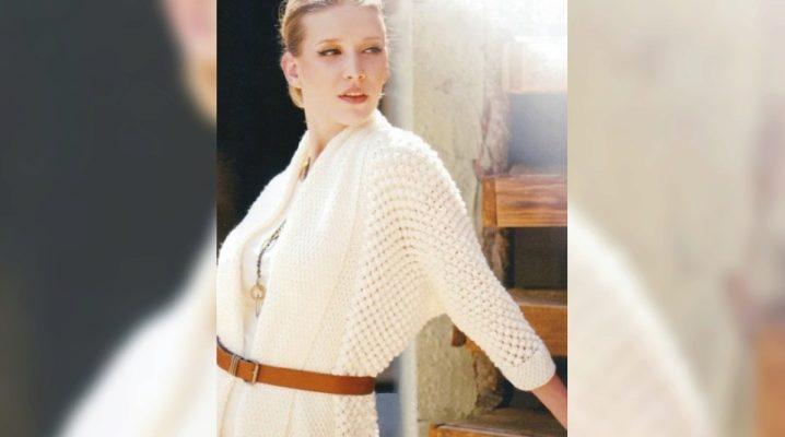 С чем носить белые кардиганы?