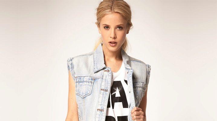 Женская джинсовая безрукавка