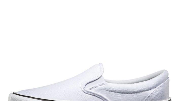 Белые слипоны – с чем носить и как ухаживать?