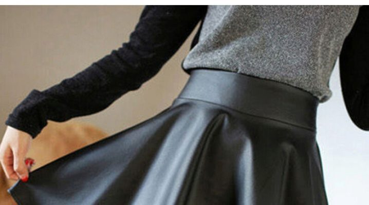C чем носить кожаную юбку?