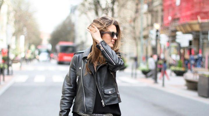 Кожаные женские весенние куртки 2018