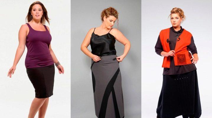 Летние юбки для полных женщин