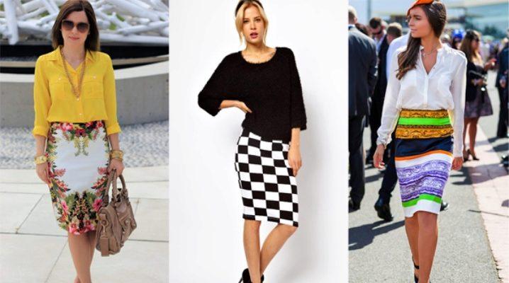 С чем носить трикотажную юбку-карандаш?