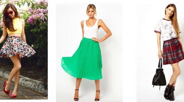 С чем носить юбку полусолнце - стильные образы