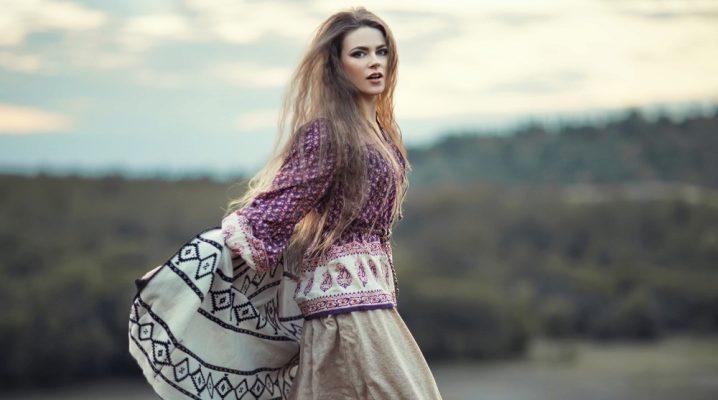 С чем носить юбку в стиле бохо?
