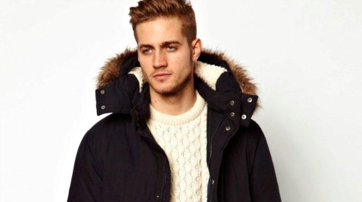 Зимняя мужская куртка большого размера