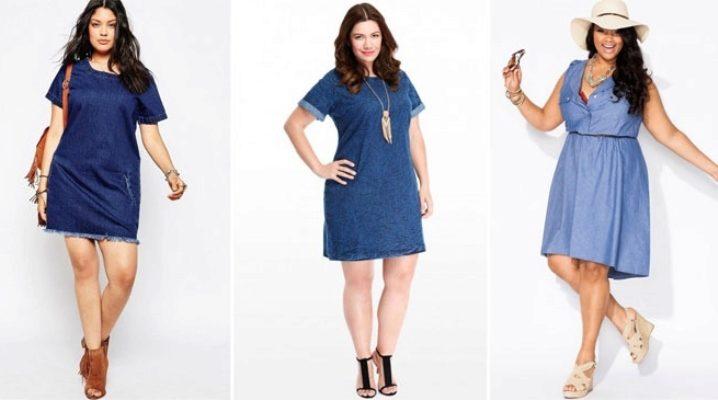 ab21813ebc7 Джинсовые платья для полных женщин 2019 (41 фото)  больших размеров ...
