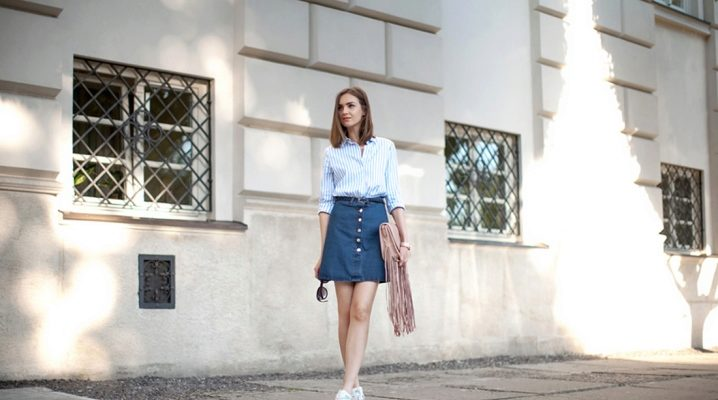 Джинсовые юбки 2017 года