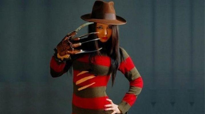 Какого цвета свитер Фредди Крюгера?