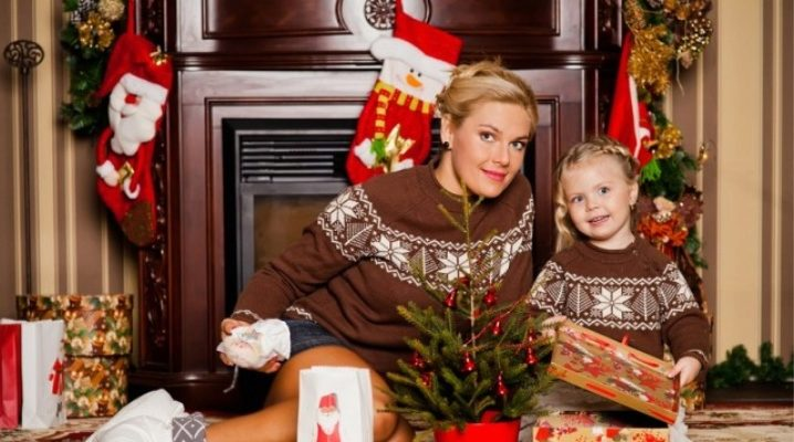 Новогодние свитера для всей семьи