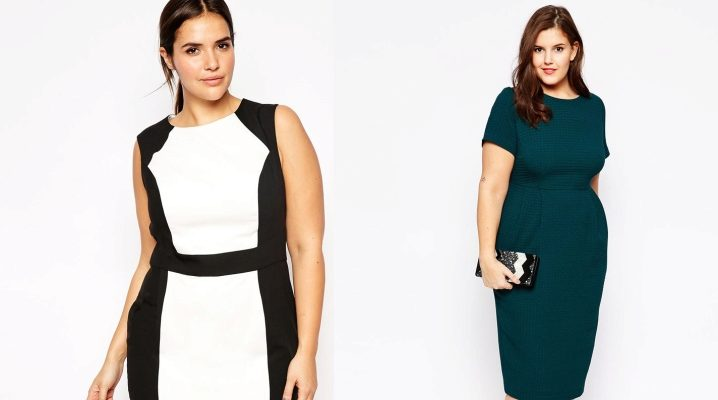 Модели прямых платьев для полных фото