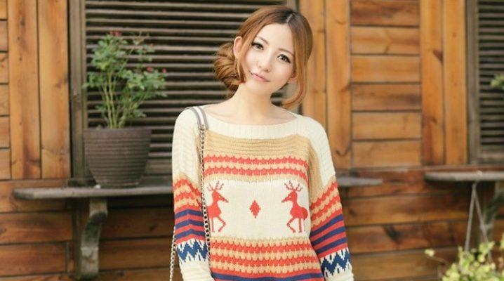 Стильный вязаный женский пуловер
