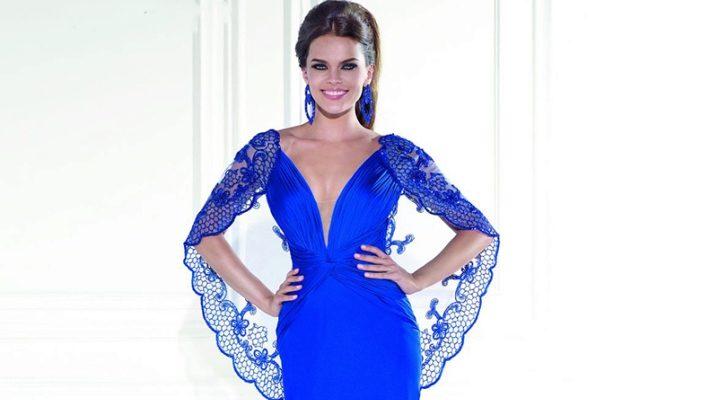 e03d98d4cbbd912 Синие вечерние платья (69 фото): красивые, темно-синие, сине-белые ...