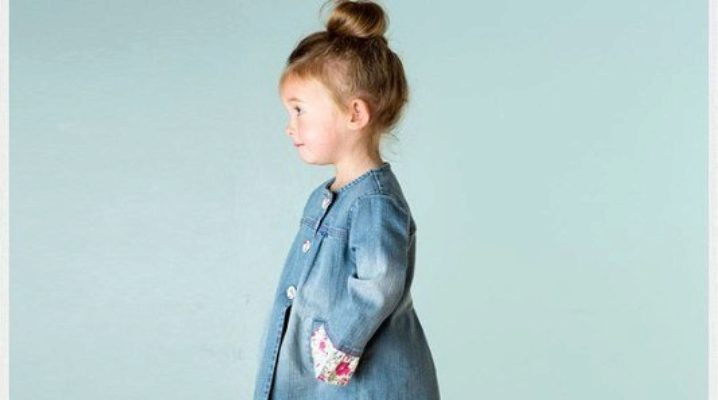 Джинсовое пальто для девочки