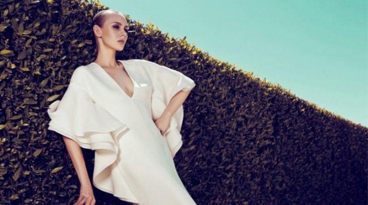 Платье с воланом – для романтичных натур