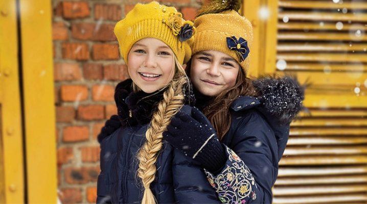 Пуховое пальто для девочки
