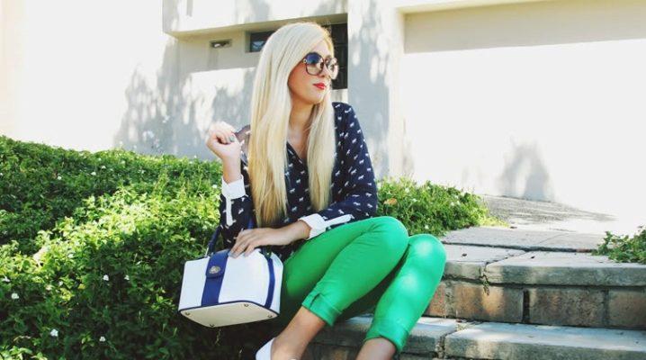 С чем носить зеленые штаны?