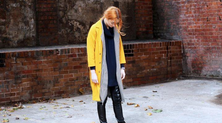 Желтое пальто: модели и с чем носить?
