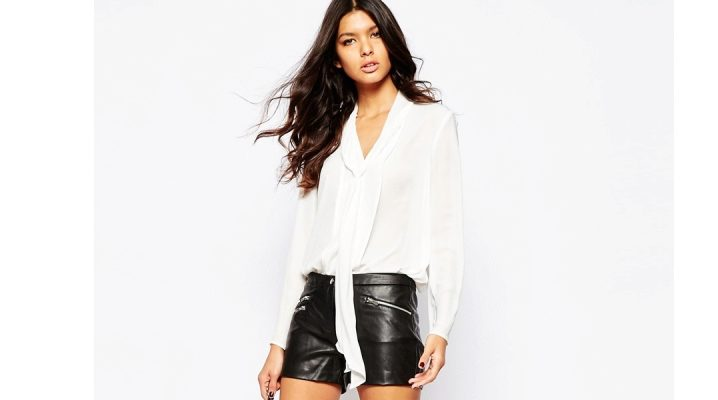 Модные кожаные шорты 2017 года