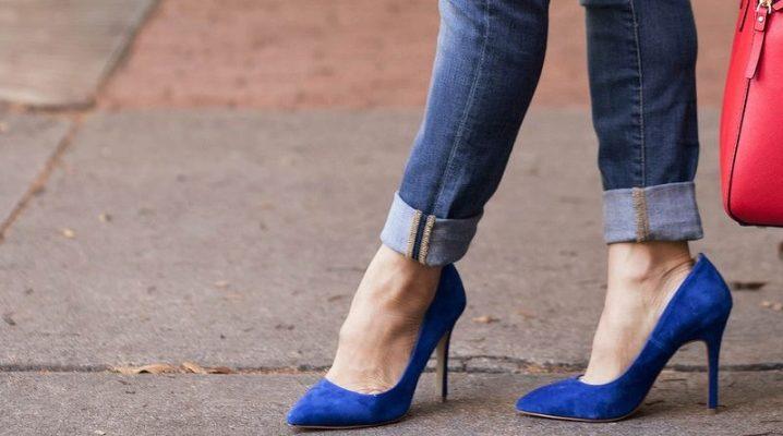 98916261bd8 Синие туфли (55 фото)  с чем носить женские туфли синего и темно ...