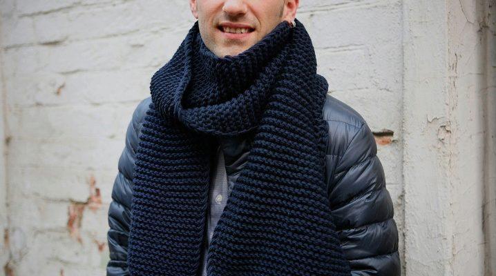 вязаный мужской шарф 2019 73 фото модные и стильные вязаные шарфы